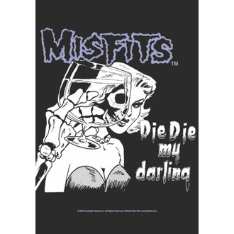 zászló Misfits - Die Die My Darling, HEART ROCK, Misfits