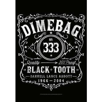 zászló Dimebag Darrel - Label, HEART ROCK, Dimebag Darrell