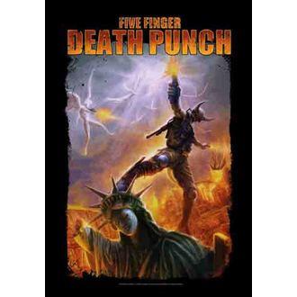 zászló Five Finger Death Puncs - Battle Of The God, HEART ROCK, Five Finger Death Punch