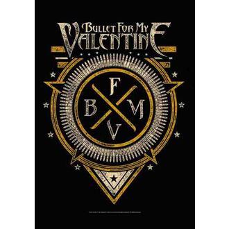 zászló Bullet For My Valentine - Emblem, HEART ROCK, Bullet For my Valentine
