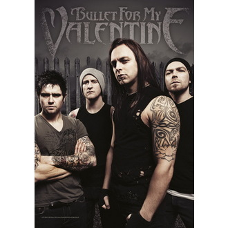 zászló Bullet For My Valentine - Band Photo, HEART ROCK, Bullet For my Valentine