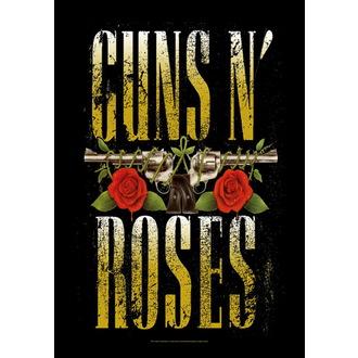 zászló Guns N'Roses - Big Guns, HEART ROCK, Guns N' Roses