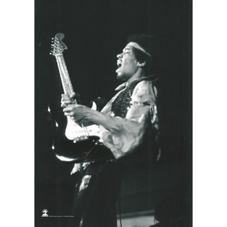 zászló Jimi Hendrix - B. & W.Guitar, HEART ROCK, Jimi Hendrix