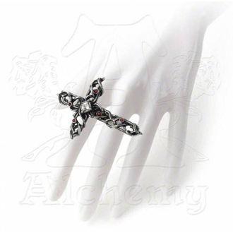ALCHEMY GOTHIC gyűrű - Tüskés Cross Arasznyi, ALCHEMY GOTHIC