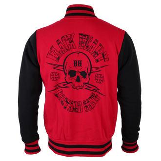 pulóver (kapucni nélkül) férfi - Skull Red - BLACK HEART, BLACK HEART