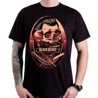 utcai póló - Barber Skull - BLACK HEART - 001-0032-BLK