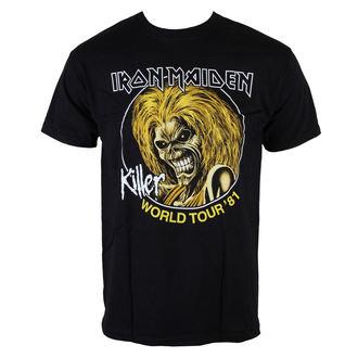 metál póló férfi Iron Maiden - Killers World Tour 81 - ROCK OFF, ROCK OFF, Iron Maiden