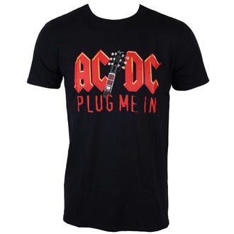 metál póló férfi AC-DC - Plug me in with Angus Young - LOW FREQUENCY, LOW FREQUENCY, AC-DC