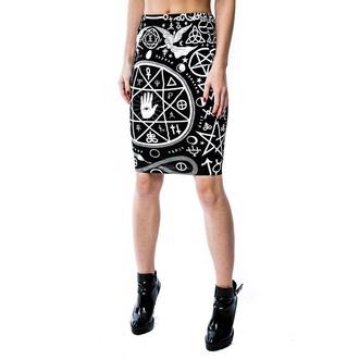 KILLSTAR női szoknya - Cult Pencil - Black, KILLSTAR