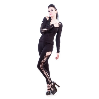 NECESSARY EVIL női cicanadrág (leggings)- Terra Slashed - Black, NECESSARY EVIL
