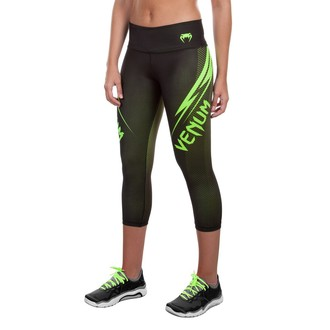 VENUM női capri nadrág (leggings) - Razor - Black/Yellow, VENUM