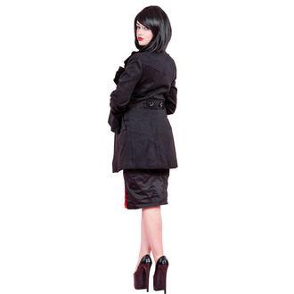 kabát női tavaszi / őszi HEARTS AND ROSES - felborzolt Sleeve Wool, HEARTS AND ROSES