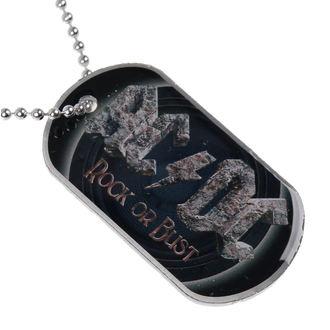 AC/DC nyaklánc (dögcédula) - Rock Or Bust - RAZAMATAZ, RAZAMATAZ, AC-DC