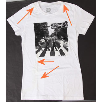 póló női Beatles - Abbey Road - BRAVADO - SÉRÜLT, BRAVADO, Beatles