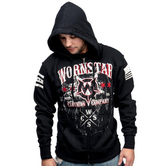 kapucnis pulóver férfi - Death Mechanic - WORNSTAR, WORNSTAR