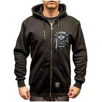 kapucnis pulóver férfi - Piston Skull - BLACK HEART, BLACK HEART