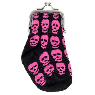 Skull pénztárca - Pink