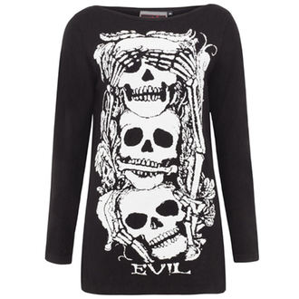 VOODOO Vixen női kardigán - Black Skull