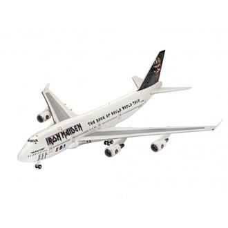 Iron Maiden repülő modell - Model Kit 1/144 Boeing 747-400, Iron Maiden
