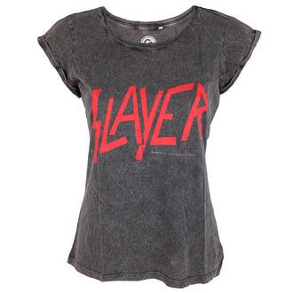 metál póló női Slayer - Classic Logo Acid Wash - ROCK OFF, ROCK OFF, Slayer