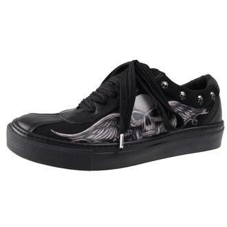 rövidszárú cipő női - GHOST-WINGED SKULL - ALCHEMY GOTHIC, ALCHEMY GOTHIC