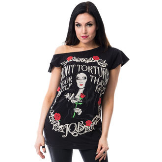 tričko dámské POIZEN INDUSTRIES - TORTURE OFF SHOULDER T - BLACK, HEARTLESS