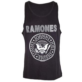 RAMONES férfi felső - LOGO SILVER DIAMANTE - CHARCOAL - AMPLIFIED, AMPLIFIED, Ramones