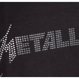 felső férfiak METALLICA - SILVER LOGO DIAMONTE - AMPLIFIED, AMPLIFIED, Metallica