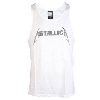 METALLICA férfi felső - LOGO WHITE - AMPLIFIED, AMPLIFIED, Metallica