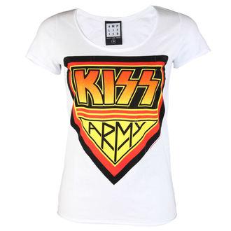 metál póló női Kiss - DISTRESSED ARMY WHITE - AMPLIFIED, AMPLIFIED, Kiss