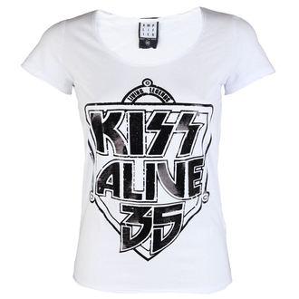 metál póló női Kiss - K 35 WHITE - AMPLIFIED, AMPLIFIED, Kiss