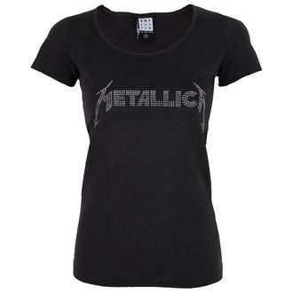 metál póló női Metallica - SILVER LOGO DIAMANTE - AMPLIFIED