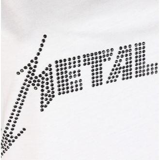 METALLICA női felső - CLASSIC LOGO WHITE - AMPLIFIED, AMPLIFIED, Metallica