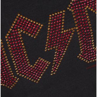 metál póló női AC-DC - LOGO CHARCOAL RED - AMPLIFIED, AMPLIFIED, AC-DC