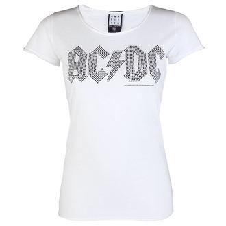 metál póló női AC-DC - LOGO WHITE BLACK - AMPLIFIED, AMPLIFIED, AC-DC