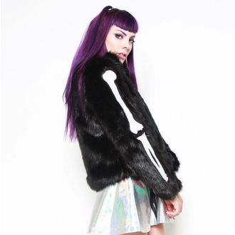 kapucnis pulóver női - Bone In Fur - IRON FIST