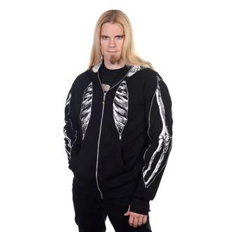 kapucnis pulóver férfi - Skeleton Bone - BANNED, BANNED
