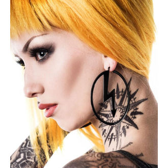 KILLSTAR x MARILYN MANSON fülbevaló - Number 7 - Fekete, KILLSTAR, Marilyn Manson