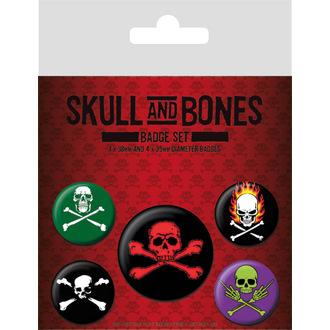 Skull and Bones kitűzők, PYRAMID POSTERS