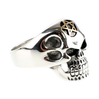 ETNOX gyűrű - Big Pentagram Skull