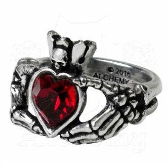 ALCHEMY GOTHIC gyűrű - Claddagh By Night, ALCHEMY GOTHIC