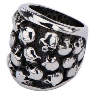 INOX gyűrű - MULTI SKULLS, INOX