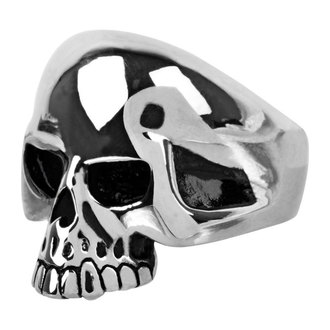 INOX gyűrű - skull w/teethout, INOX