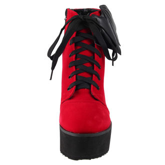 cipő ék női - Bat Wing Boot Red Velvet - IRON FIST, IRON FIST