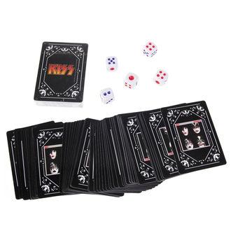 játékkártyák készlet + dobókocka KISS - Iconic, Kiss