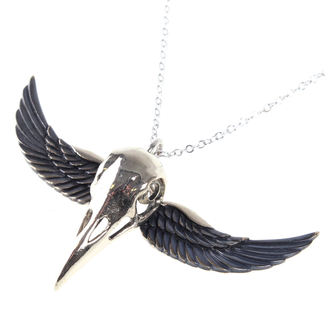 ETNOX nyaklánc - Winged Crow Skull - Ezüst, ETNOX