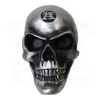 ALCHEMY GOTHIC dekoráció- Metalised Alchemist Skull, ALCHEMY GOTHIC