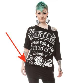 set tričko+tílko dámské POIZEN INDUSTRIES - DEATH TO ALL - BLACK - POŠKOZENÝ, HEARTLESS