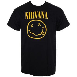 metál póló férfi Nirvana - Smiley Logo - LIVE NATION