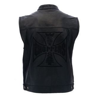 mellény - OG CROSS LEATHER RIDING - West Coast Choppers, West Coast Choppers